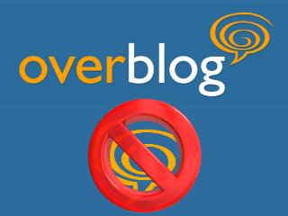 Excluir sua conta e blog Overblog