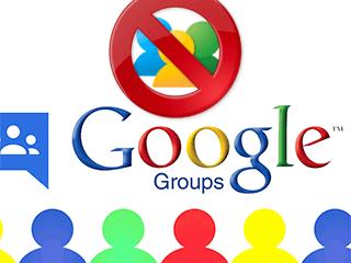 excluir um grupo do Grupos do Google