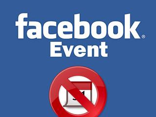 Excluir um evento Facebook