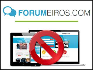 excluir conta forumeiros