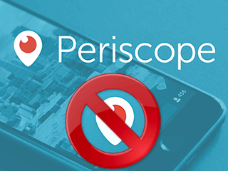 excluir conta periscope