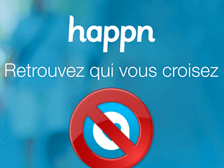 excluir conta happn