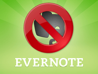 excluir conta evernote