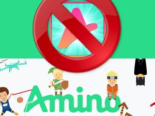 como deletar conta amino